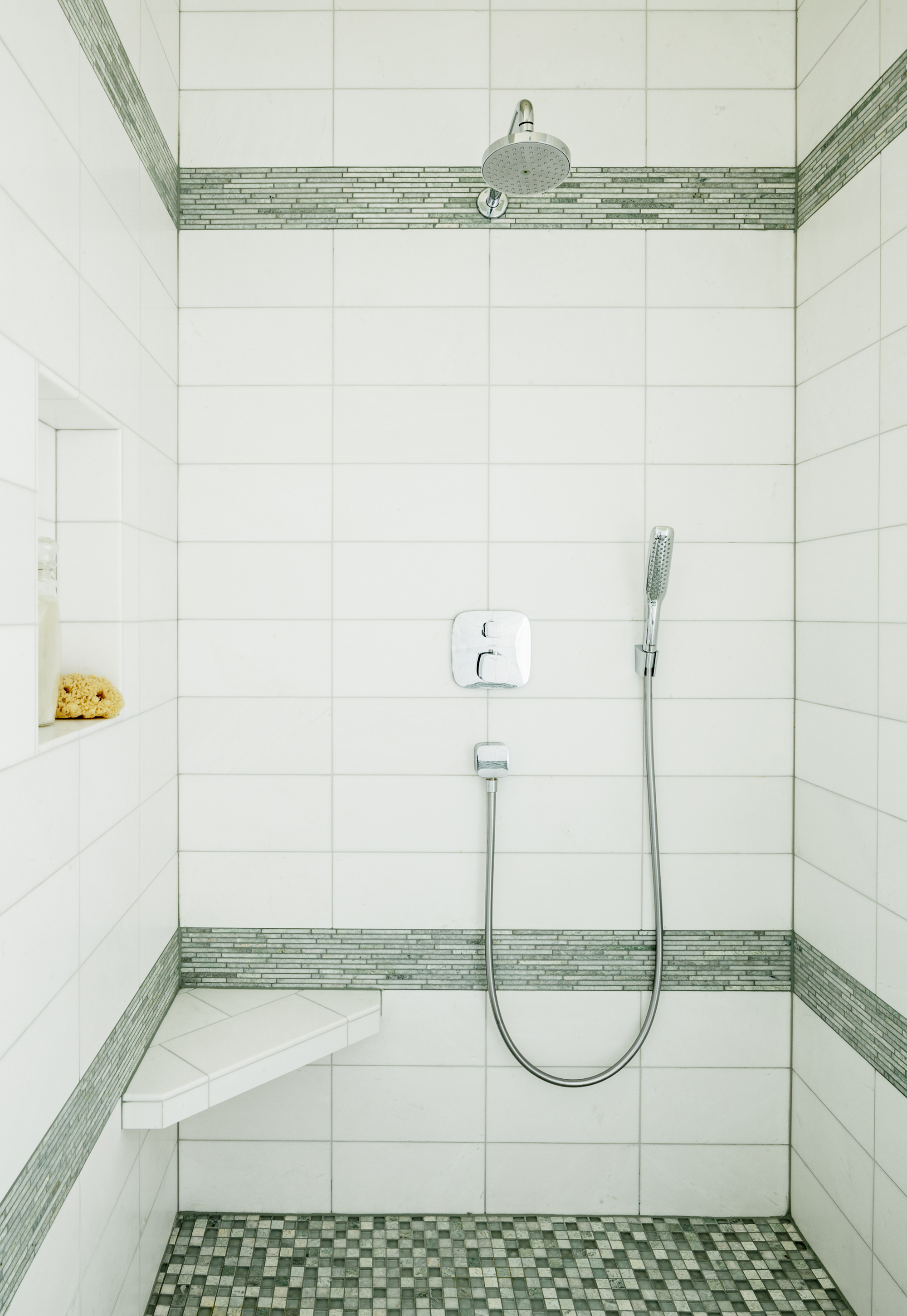 Bathroom shower design by Jenni Leasia Interior Design in Portland