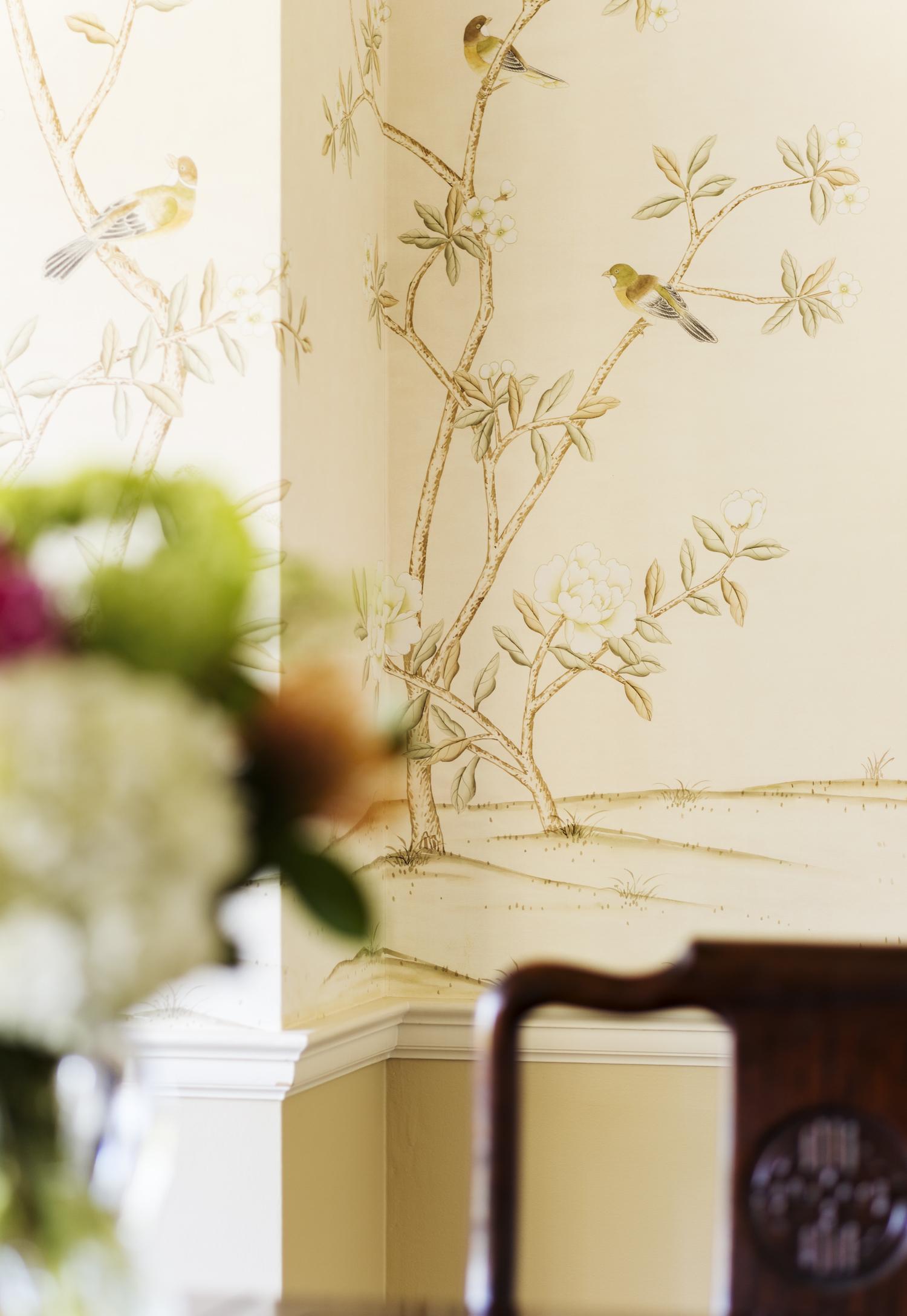 Wallpaper design by Jenni Leasia Interior Design in Portland