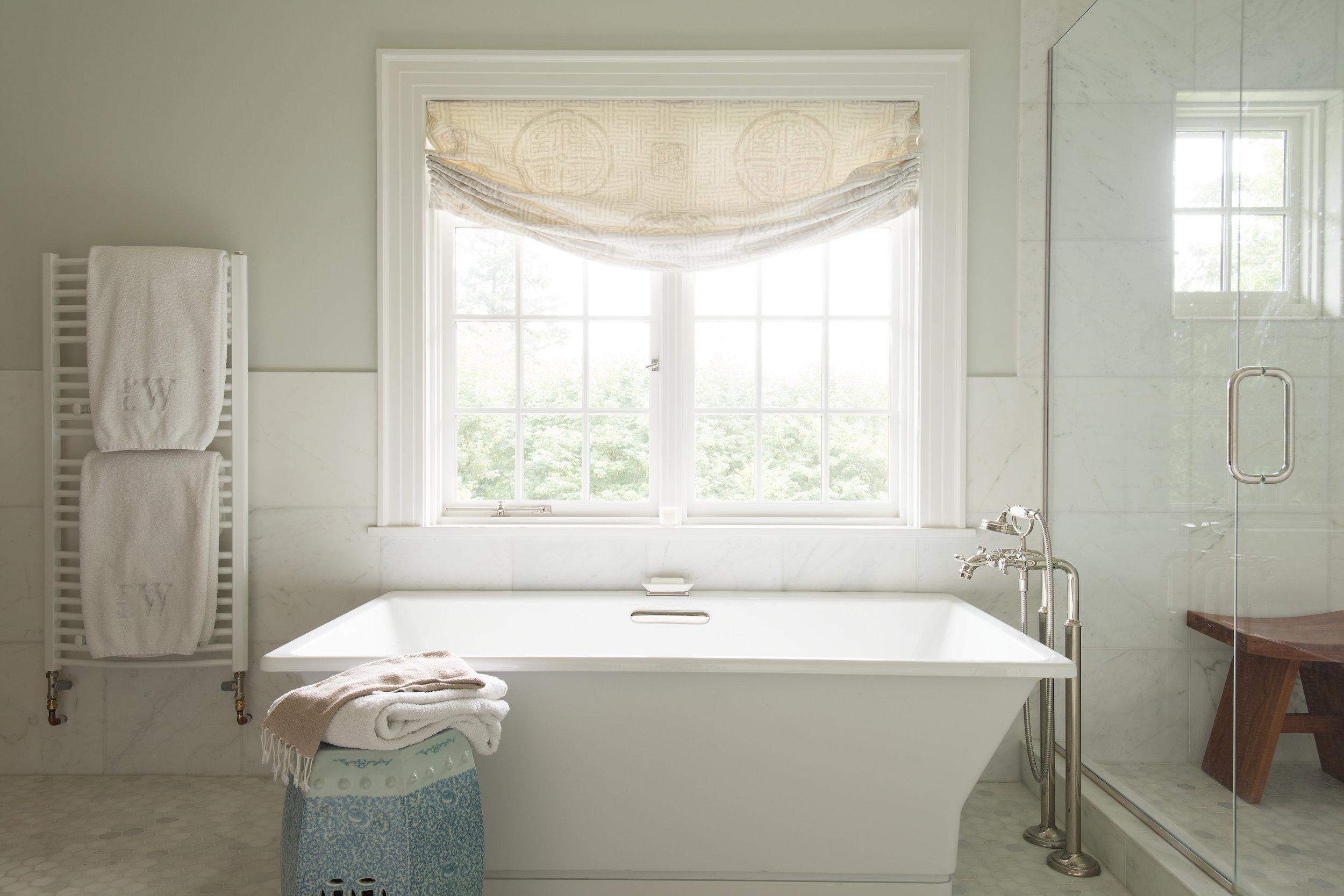 Bathtub design by Jenni Leasia Interior Design in Portland