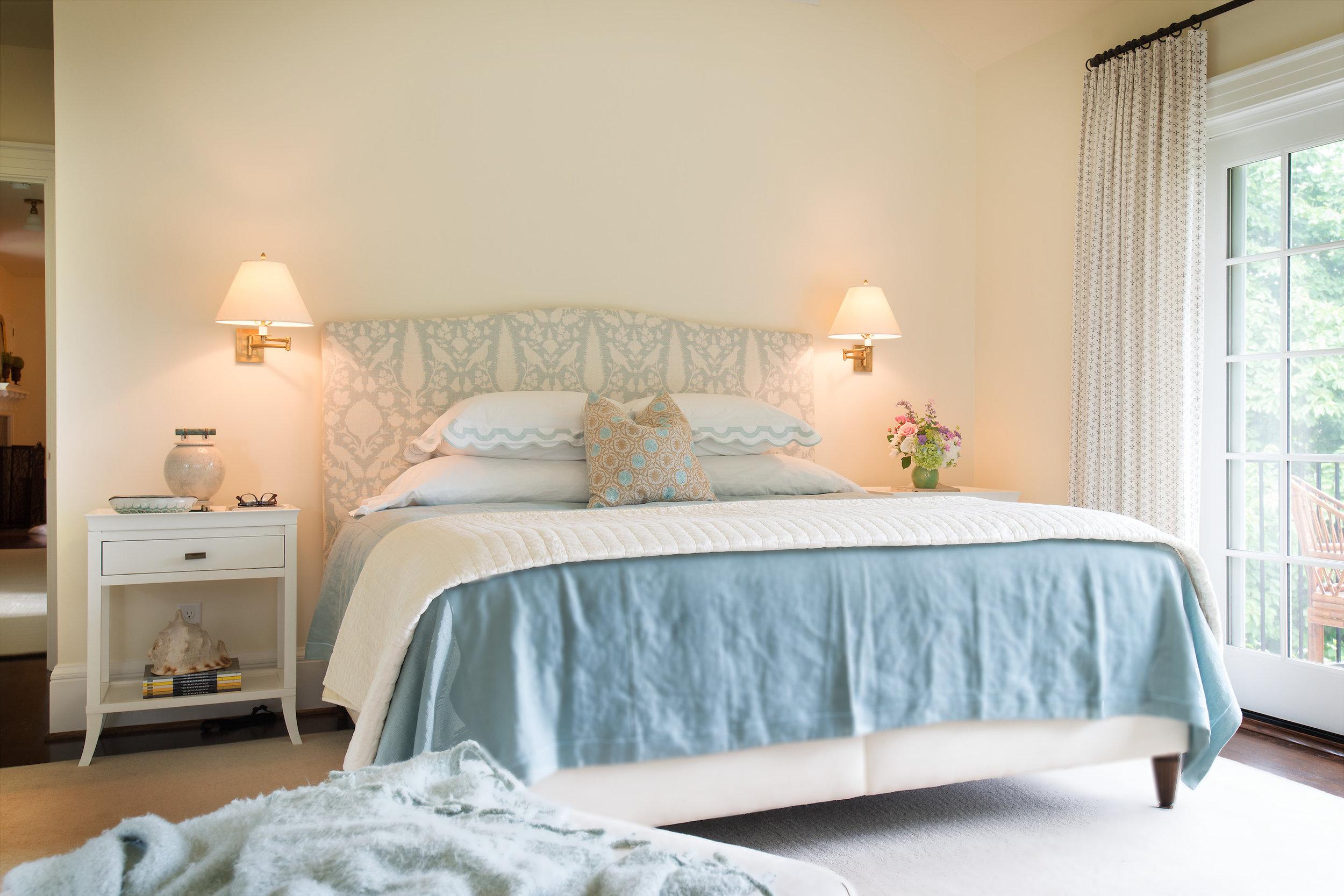 Bedroom interior design by Jenni Leasia Interior Design in Portland