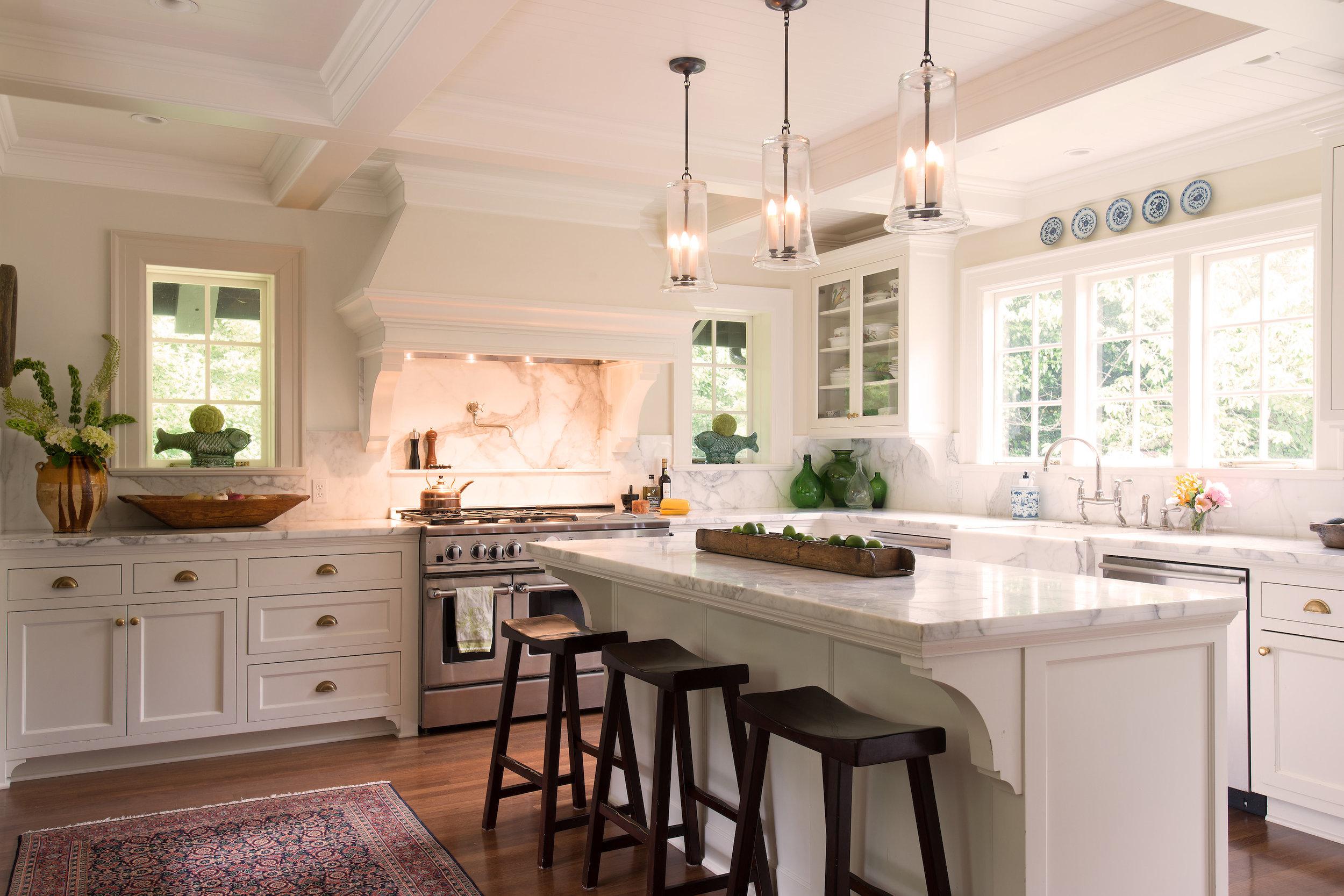 Kitchen island design by Jenni Leasia Interior Design in Portland
