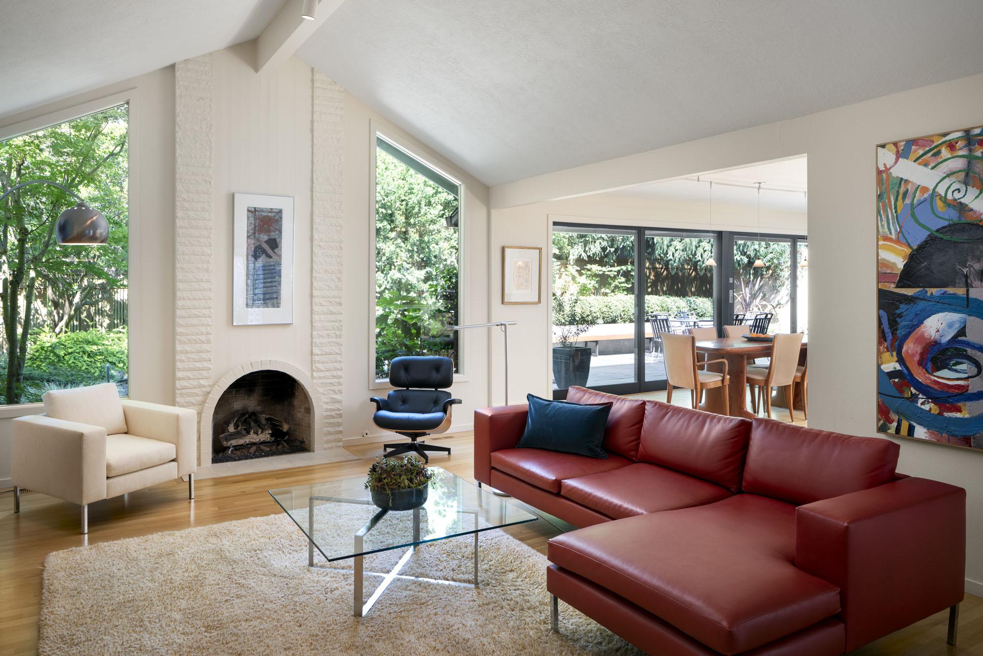 Living room interior design by Jenni Leasia Interior Design in Portland
