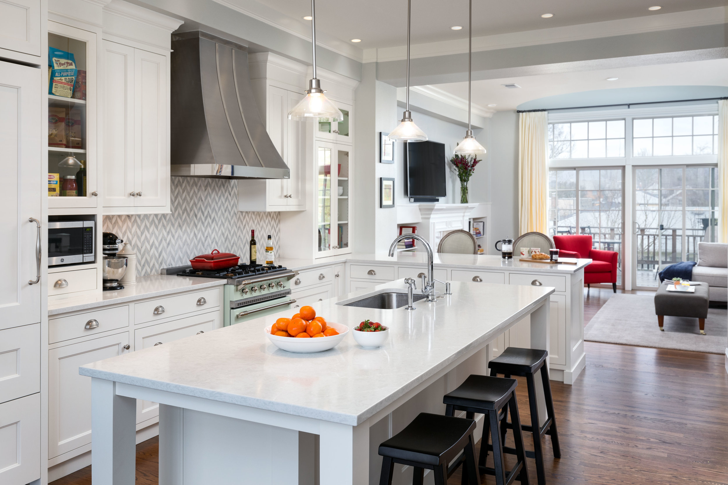 Kitchen island design by Jenni Leasia Interior Design in Portland