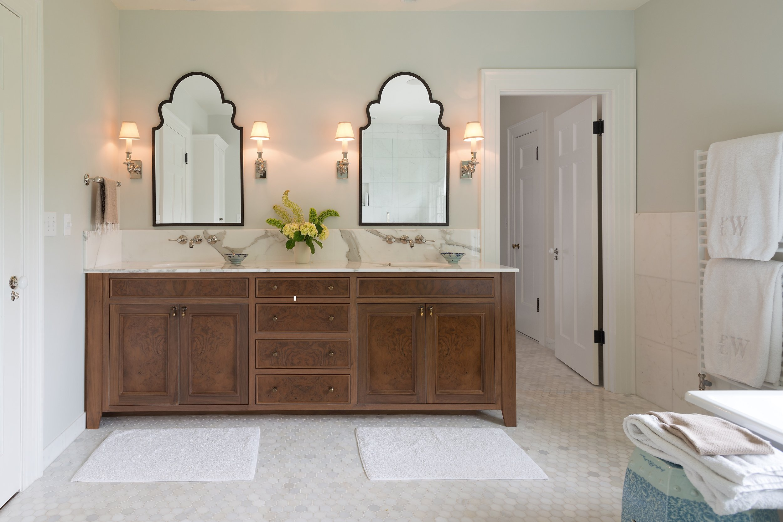 Bathroom vanity interior design by Jenni Leasia Interior Design in Portland Oregon