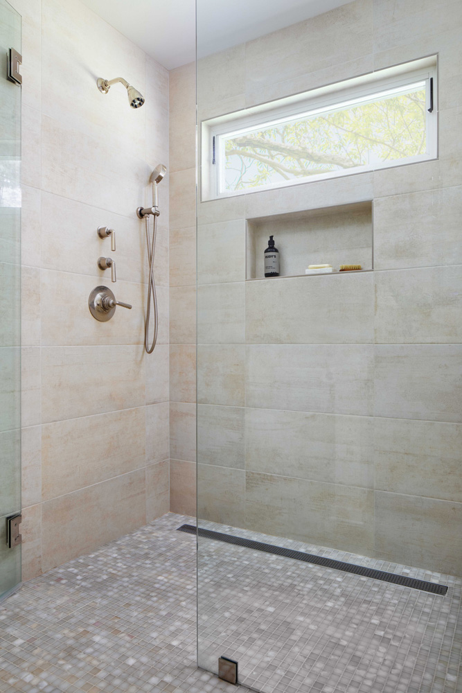 Shower remodel design by Jenni Leasia Interior Design in Portland