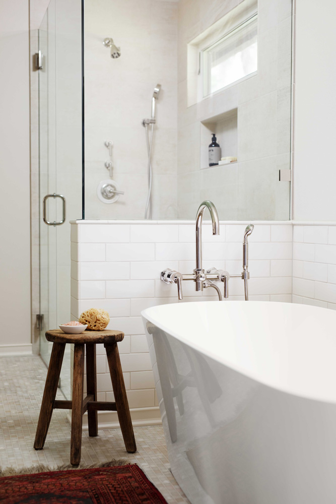 Bathtub remodel by Jenni Leasia Interior Design in Portland