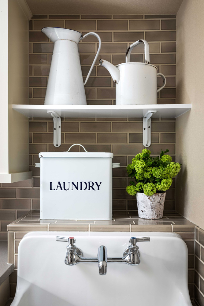 Laundry room interior design by Jenni Leasia Interior Design in Portland