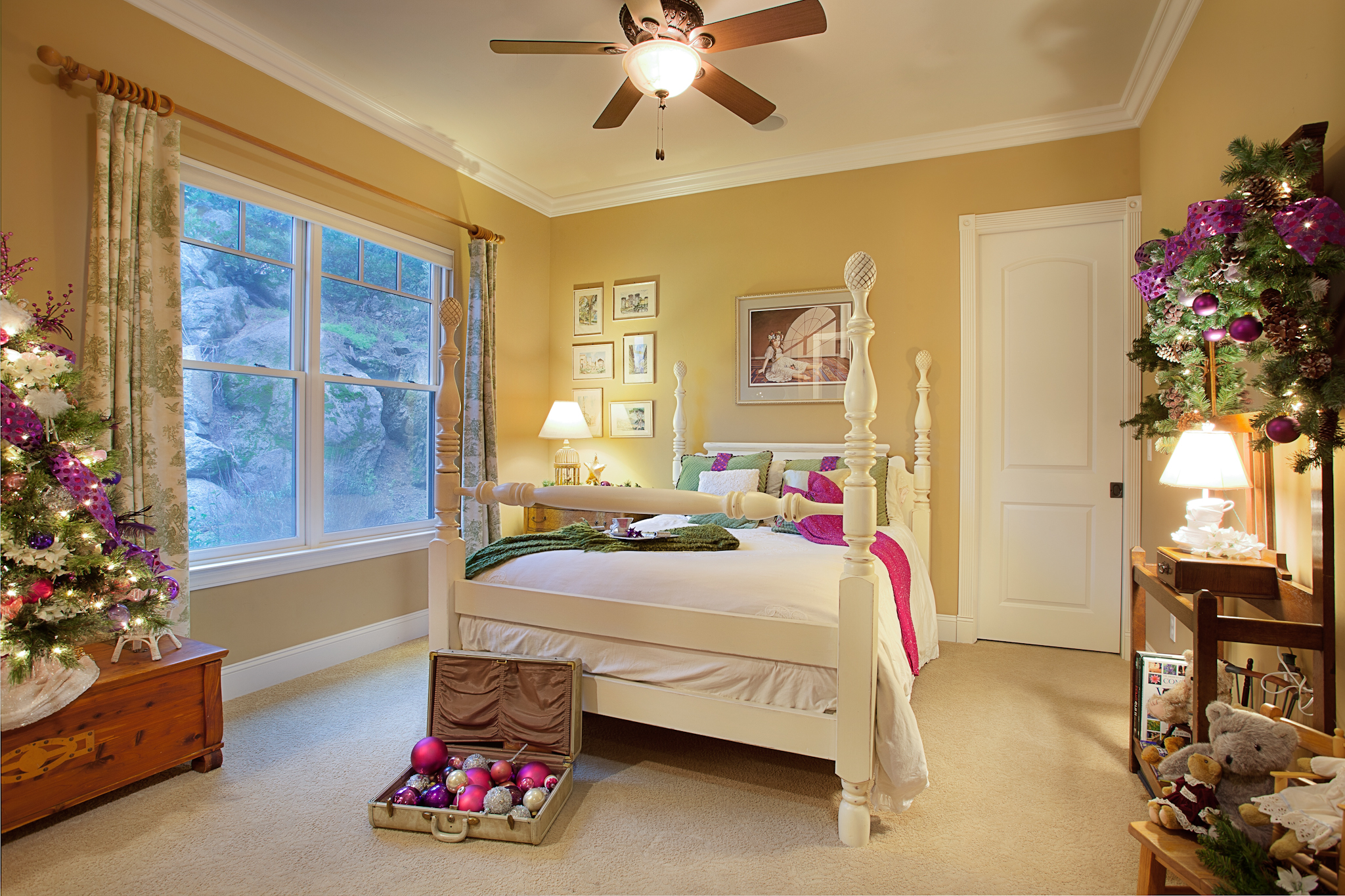 Bedroom After - Decorated for Christmas