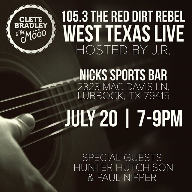 ***Lubbock Texas*** 7-9pm tomorrow at Nick's Sports Bar
