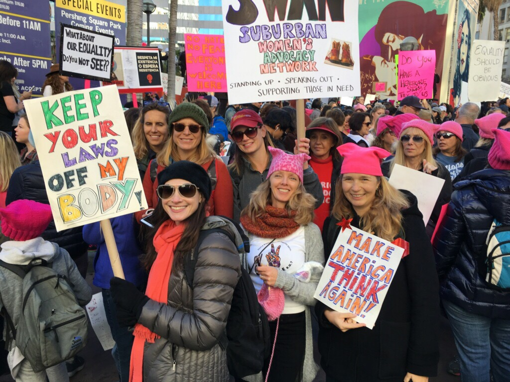 SWAN at the Women's March in Los Angeles. January 21, 2018 (photo by Aimee Porter)