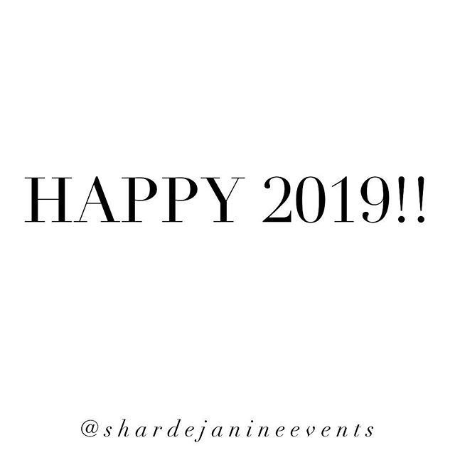 Happy New Year Everyone! 🍾 We made it! 🎉  2018 was such a great year for us at Shardè Janine Events! We met so many fabulous and amazing new friends! Doing what you love for your career is the life but having the support of great people around you is what really makes it so much more fun! Cheers 🥂 to all of you and can't wait to see all that 2019 has to offer!!🎉