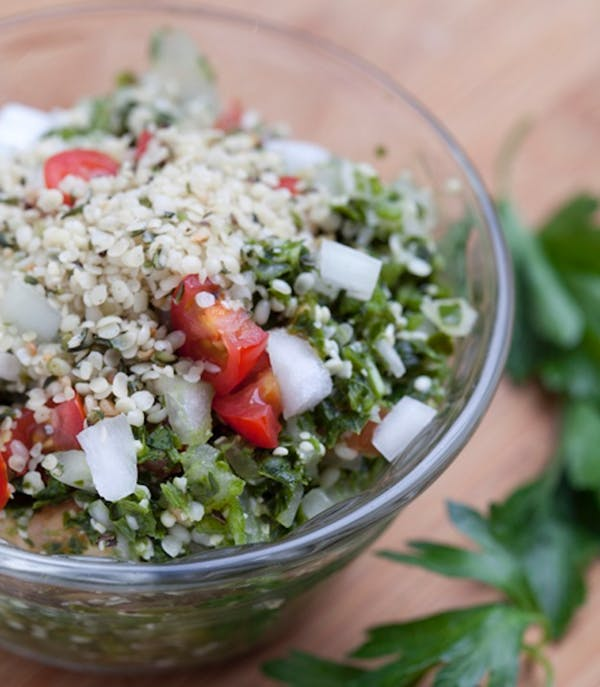 Raw Tabouleh & Hemp Seed Salad