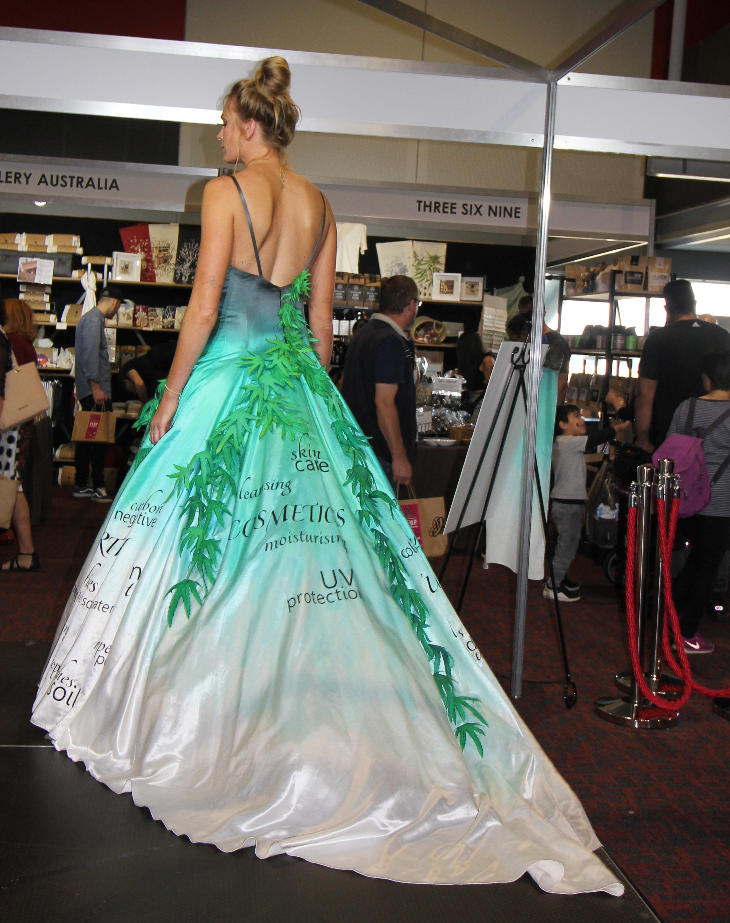 The Hemp Dress created by Costume for a Cause and Hemp Gallery