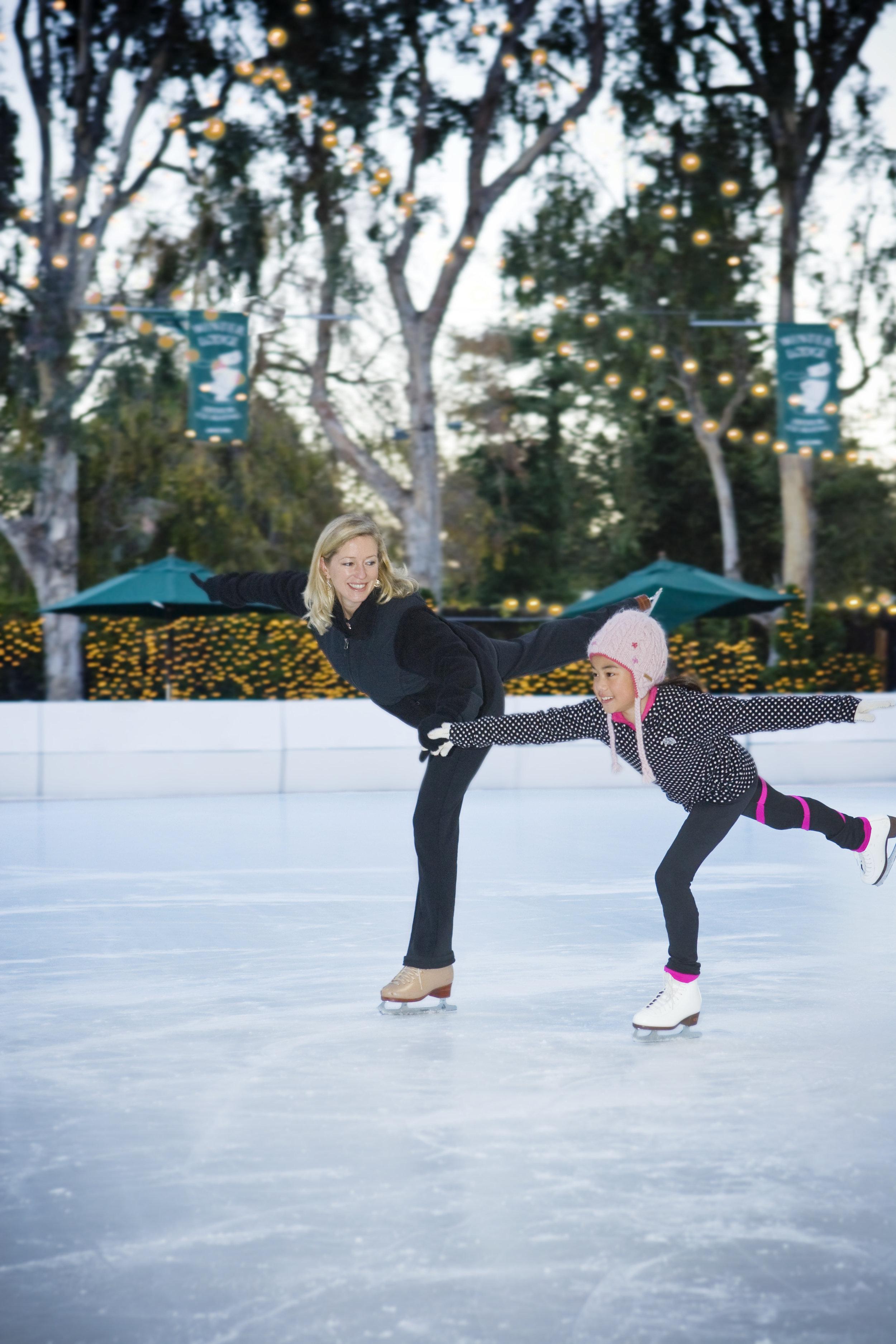Teaching skating at the Winter Lodge, Palo Alto