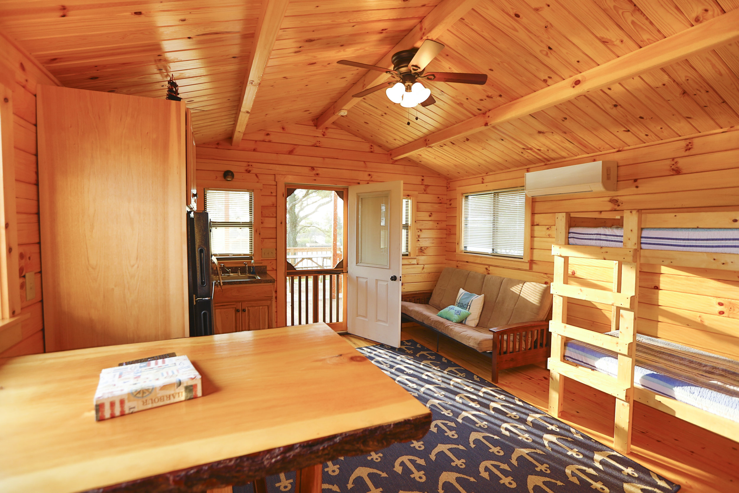 Lakefront Cabin Living Area | Treasure Beach