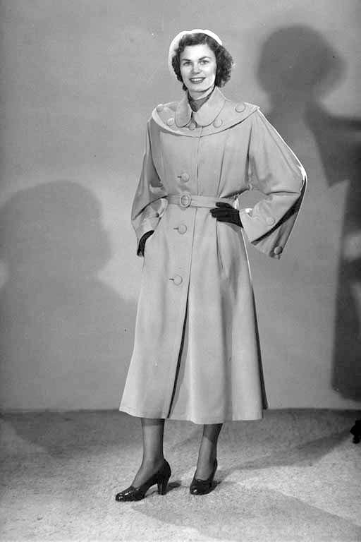 Model in Rainster Raincoat - 1951