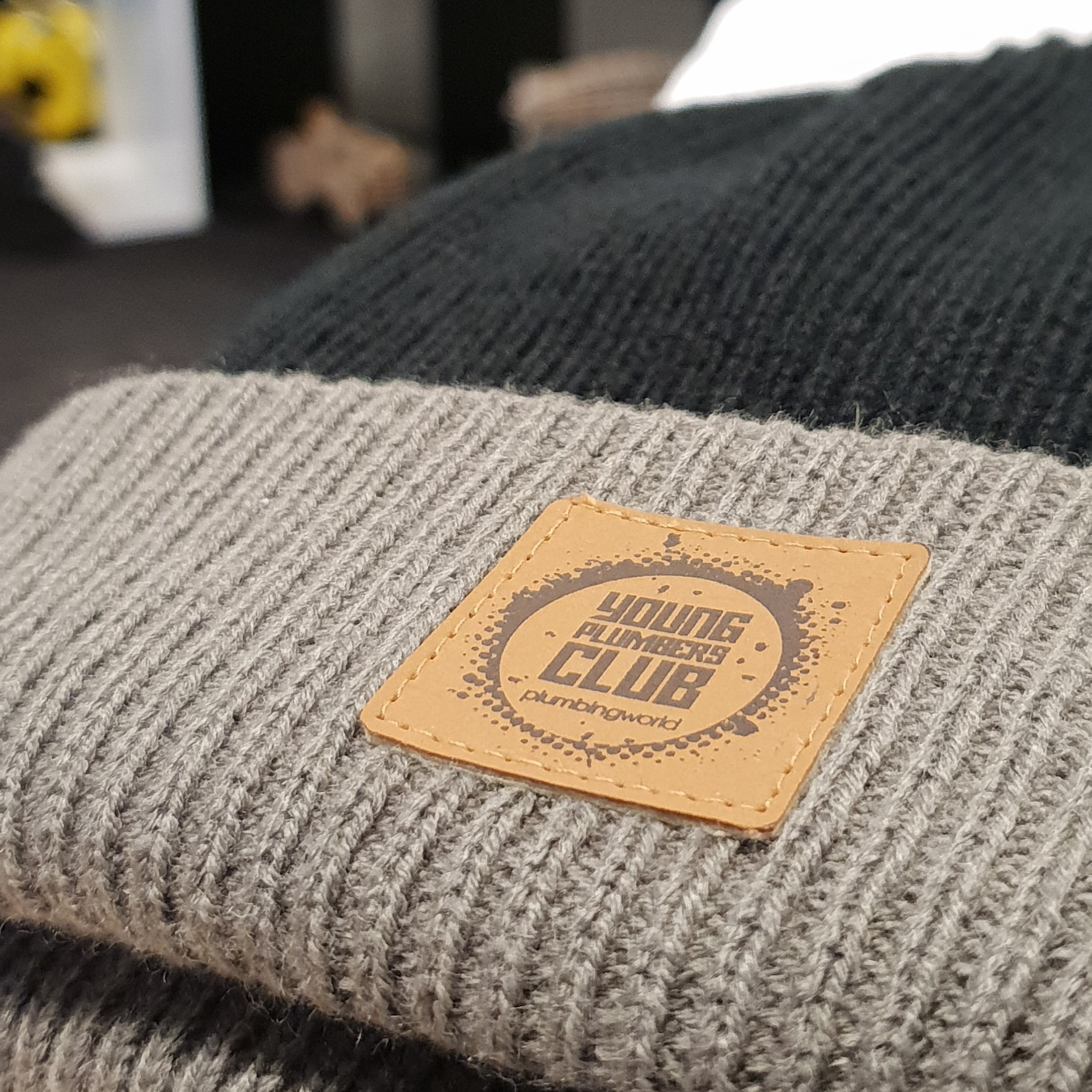 Beanies / suede patch   Plumbing World