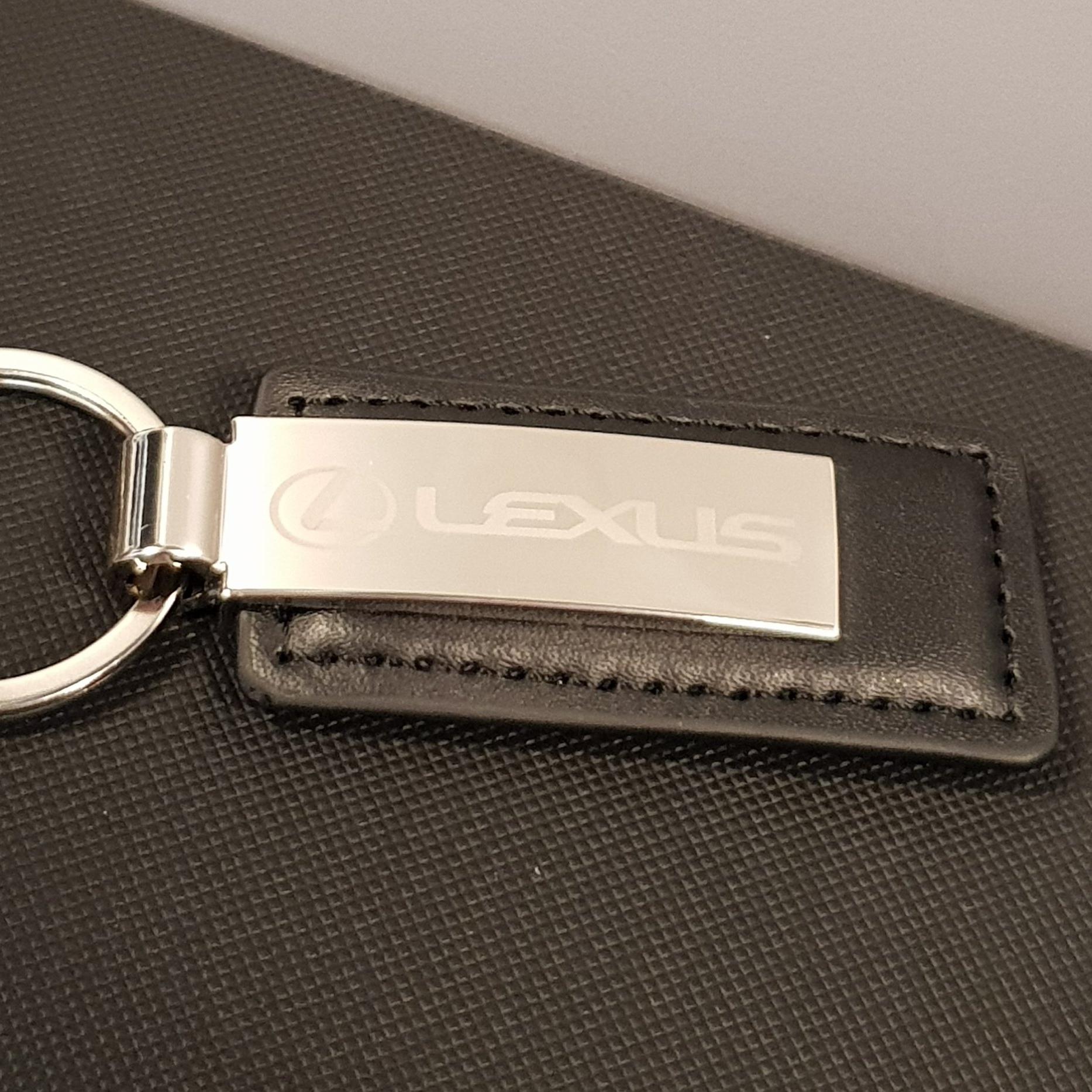 Leather/metal keyring   lexus