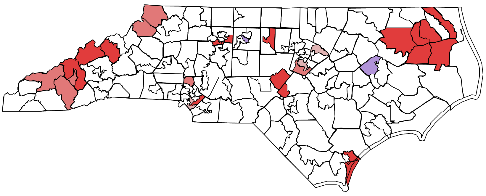 """Flippable"" NC House Districts"