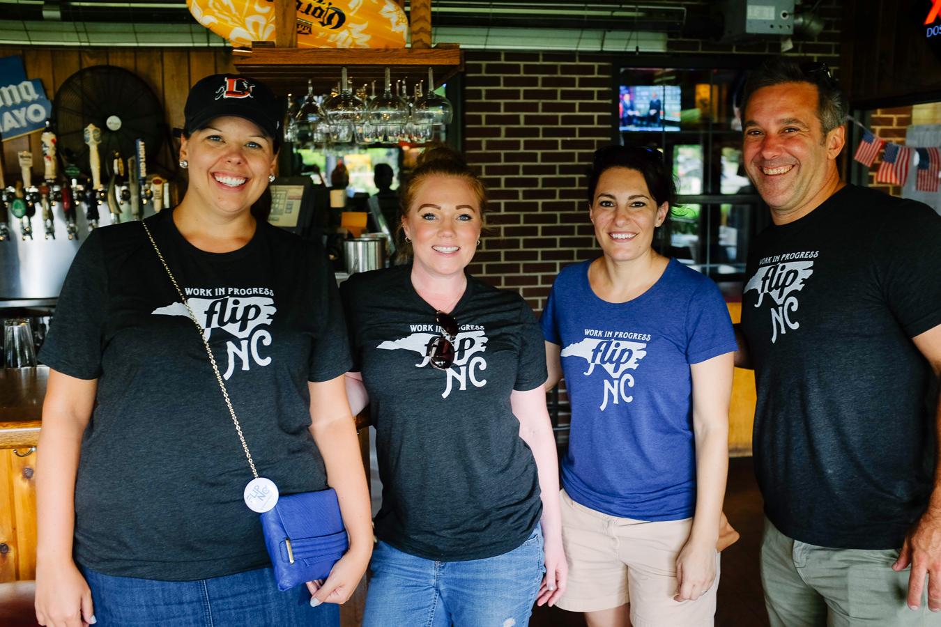 Andrea (left) with fellow FLIPsters Liz Wardzinski, Amy Cox, and Pat Bayer