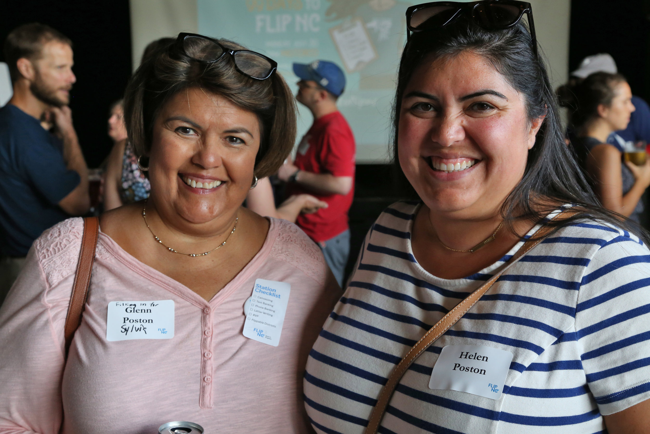 Helen with her mother at the first FLIP NC event she ever attended back in July 2018