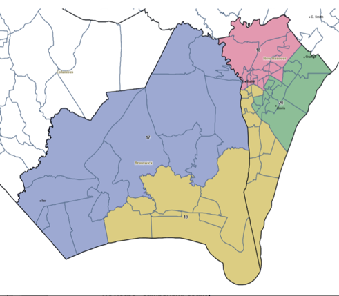 Adopted Map for Brunswick-New Hanover