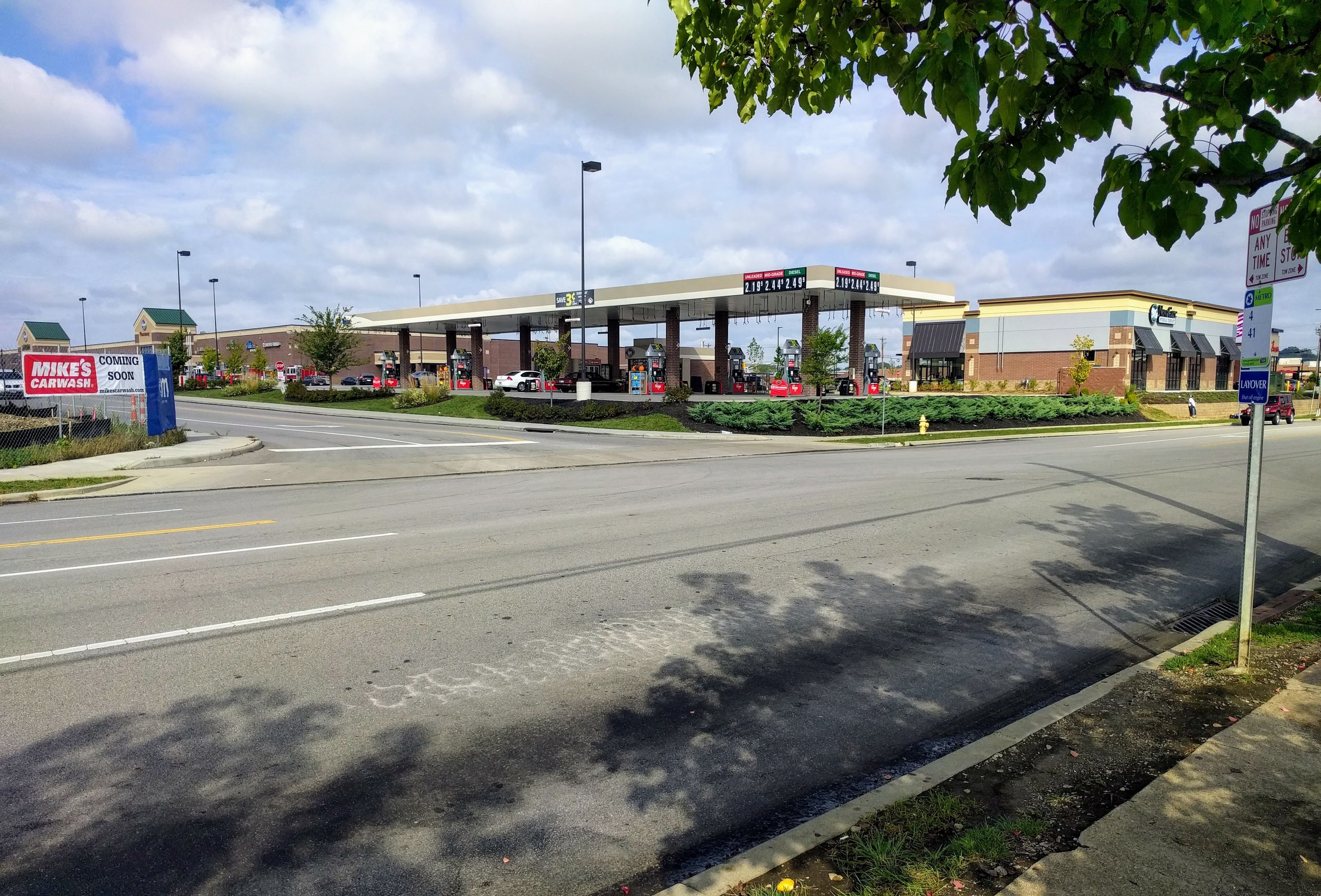 Bus stop for the 4 and 41 near the Oakley Kroger
