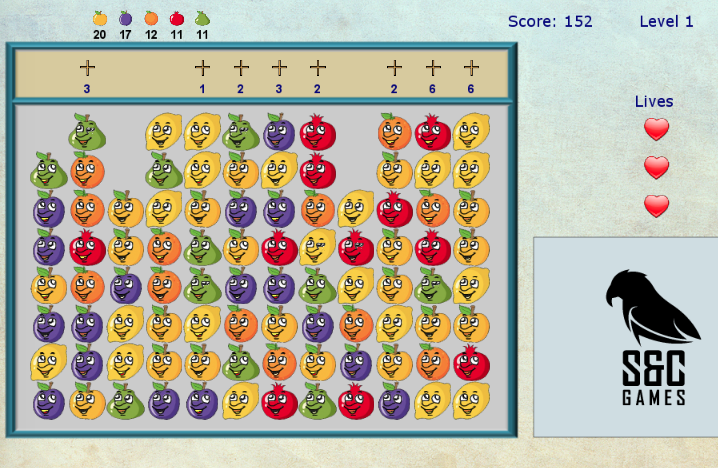 Funny Fruit - Another game developed and released in beta - playable at: http://bit.ly/2sGCziyGame instructions are displayed when the game loads.
