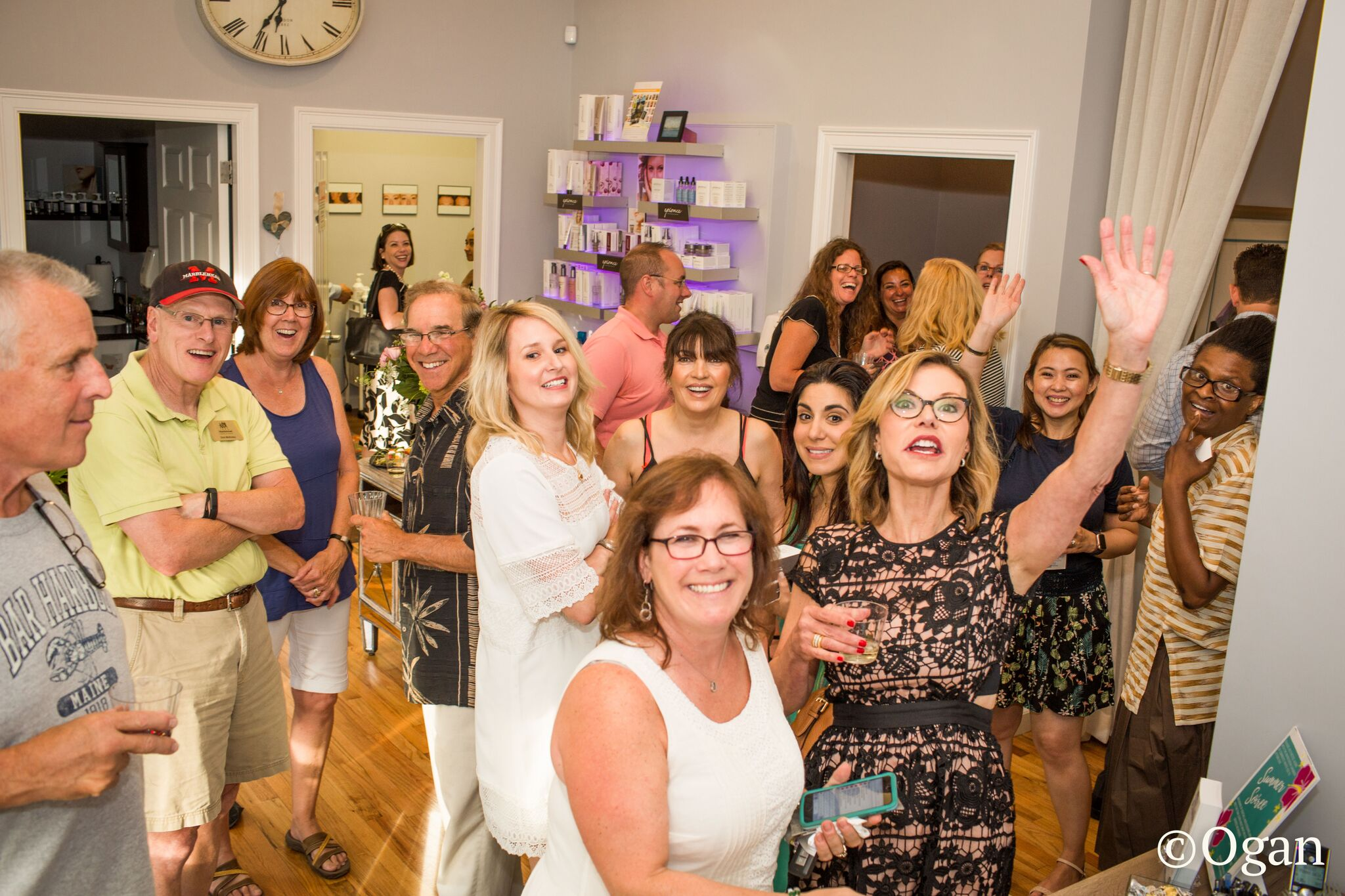 A candid shot from our Summer Soiree this July.