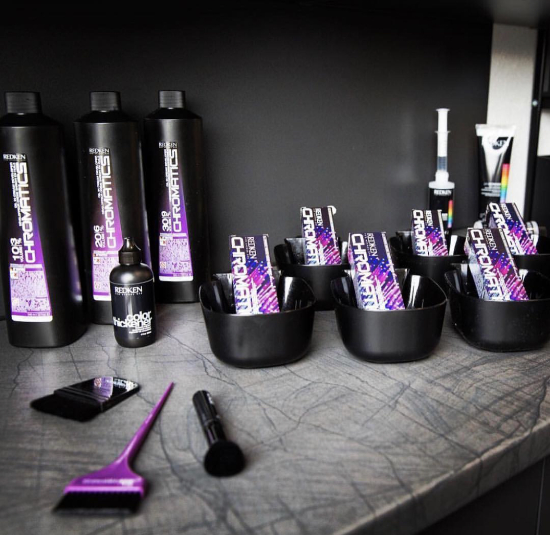 CHROMATICS COLOR - Zero Ammonia color line by Redken.100% grey coverage, formulated for long lasting, multidimensional color without the odor or discomfort sometimes caused by traditional color lines.