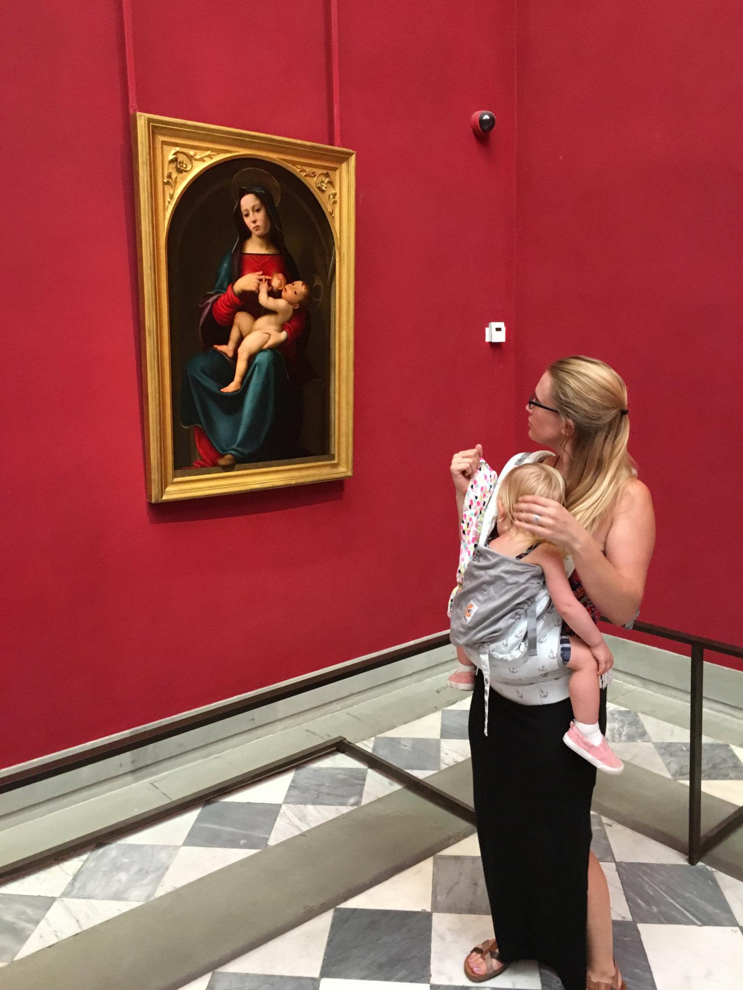Uffizi with a toddler