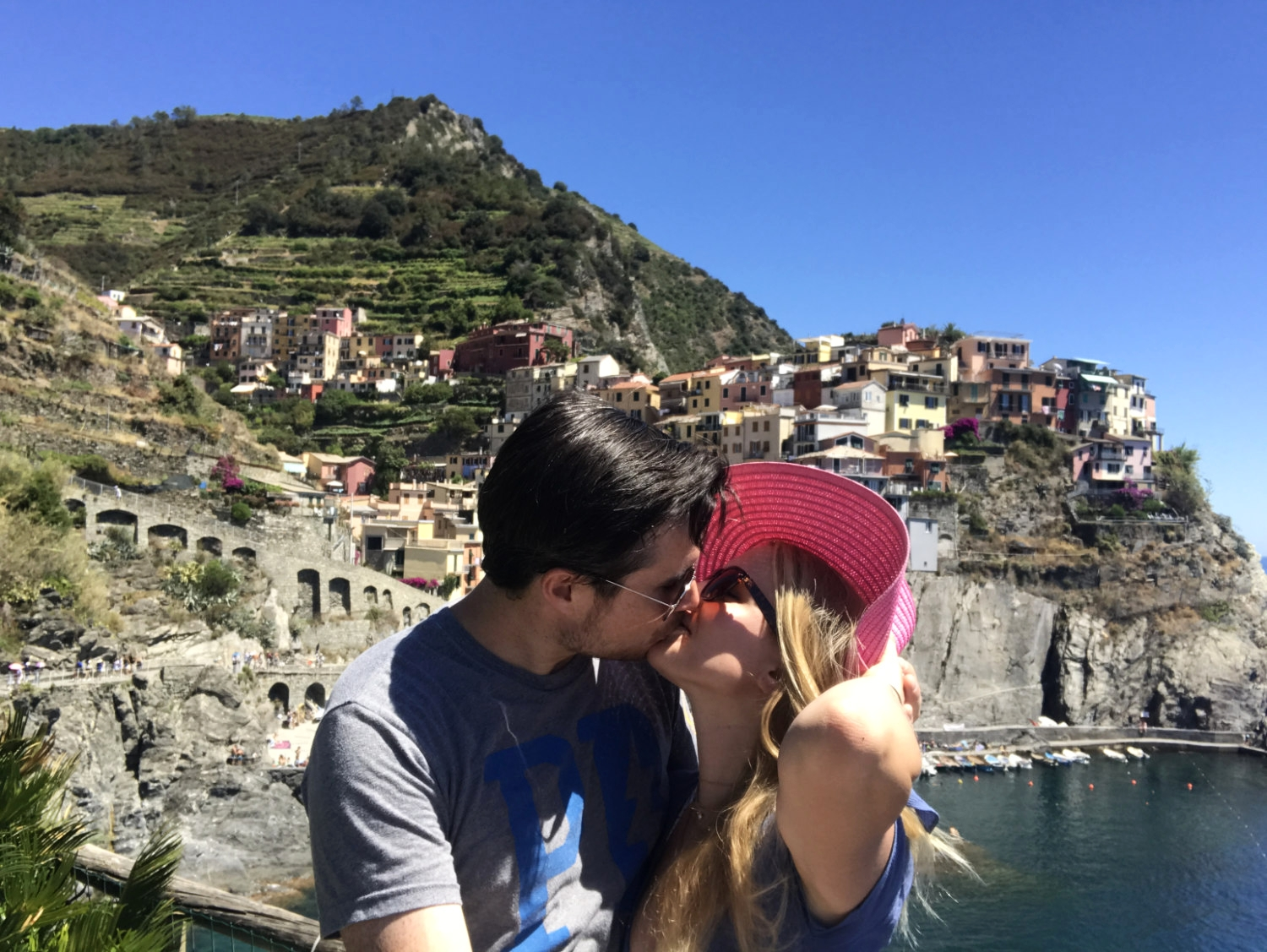 Celebrating two years of marriage in the Cinque Terre.