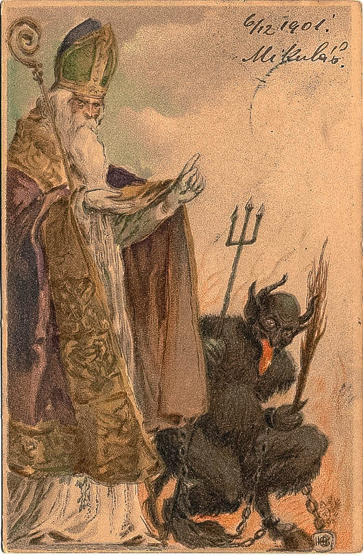 The Catholic church attempted to banish Krampus festivities but their efforts failed.