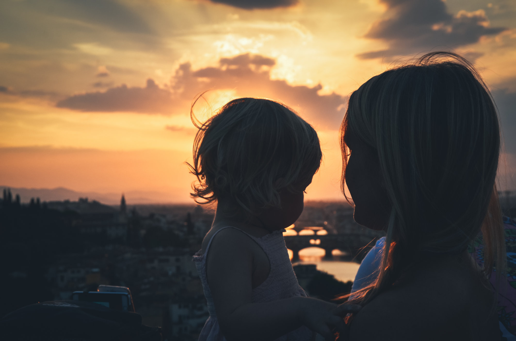 Watching the sun set over another city we fell deeply in love with.