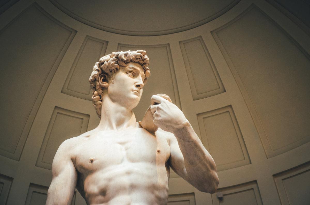 Michelangelo's David at The Academia.