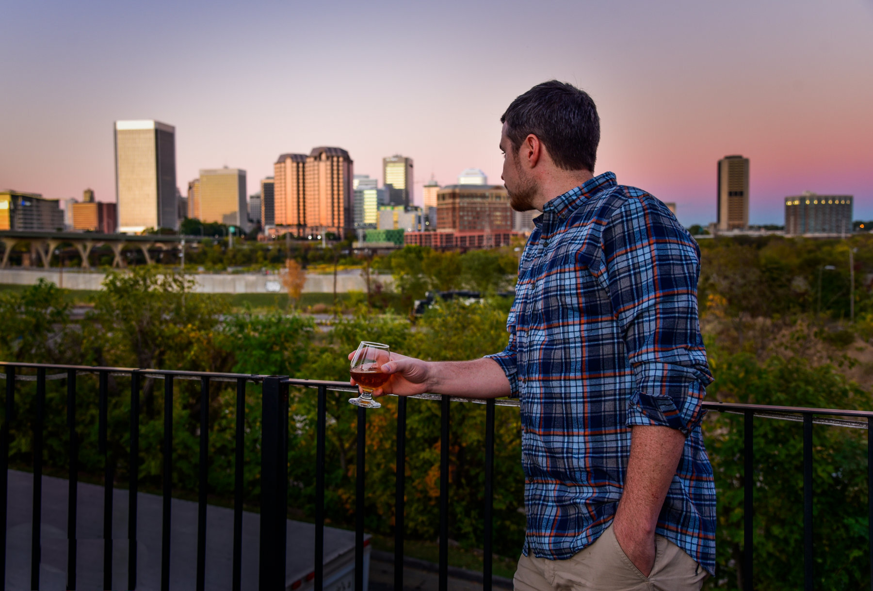 A view of RVA from the deck of Legend Brewery.