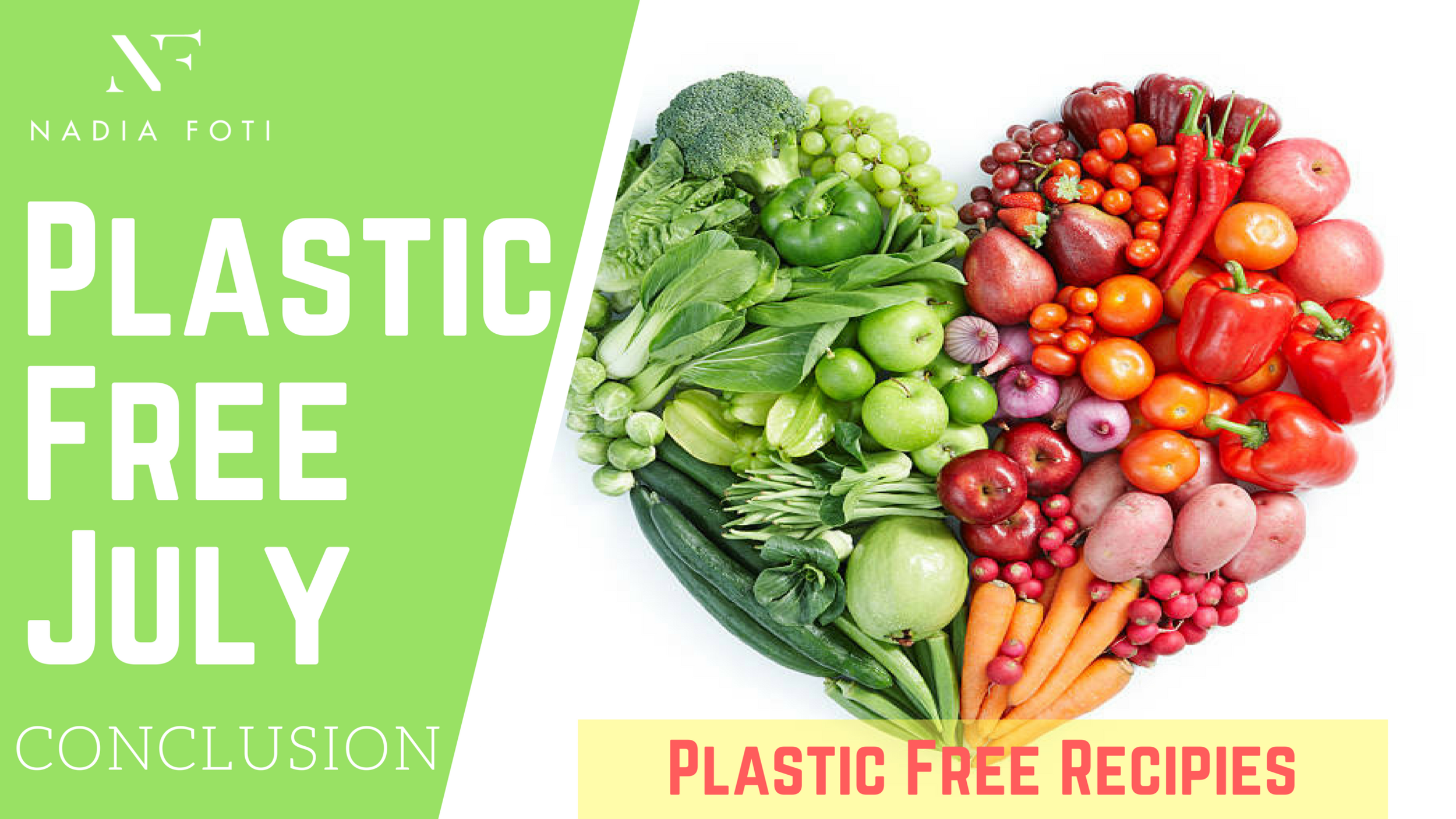 Next Week... - As Plastic Free July comes to an end this doesn't mean we will stop our plastic free mission. Stay tuned for cool plastic free recipes that you will love!Until next time xx- NF