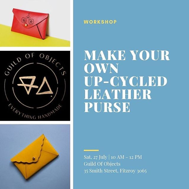Super excited to be teaching @guildofobjects this Saturday! Come along and learn how to make your very own #zerowaste coin purse/card wallet from repurposed leather. Limited tickets left go to @guildofobjects for more details! Link in bio! X NF