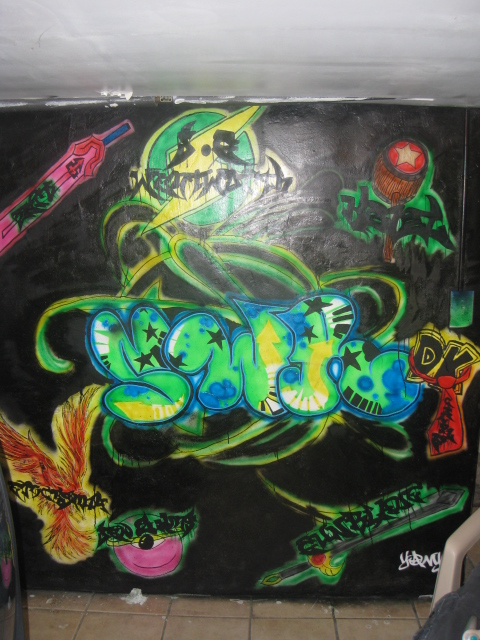 SWR mural with member names/graphics at HQ