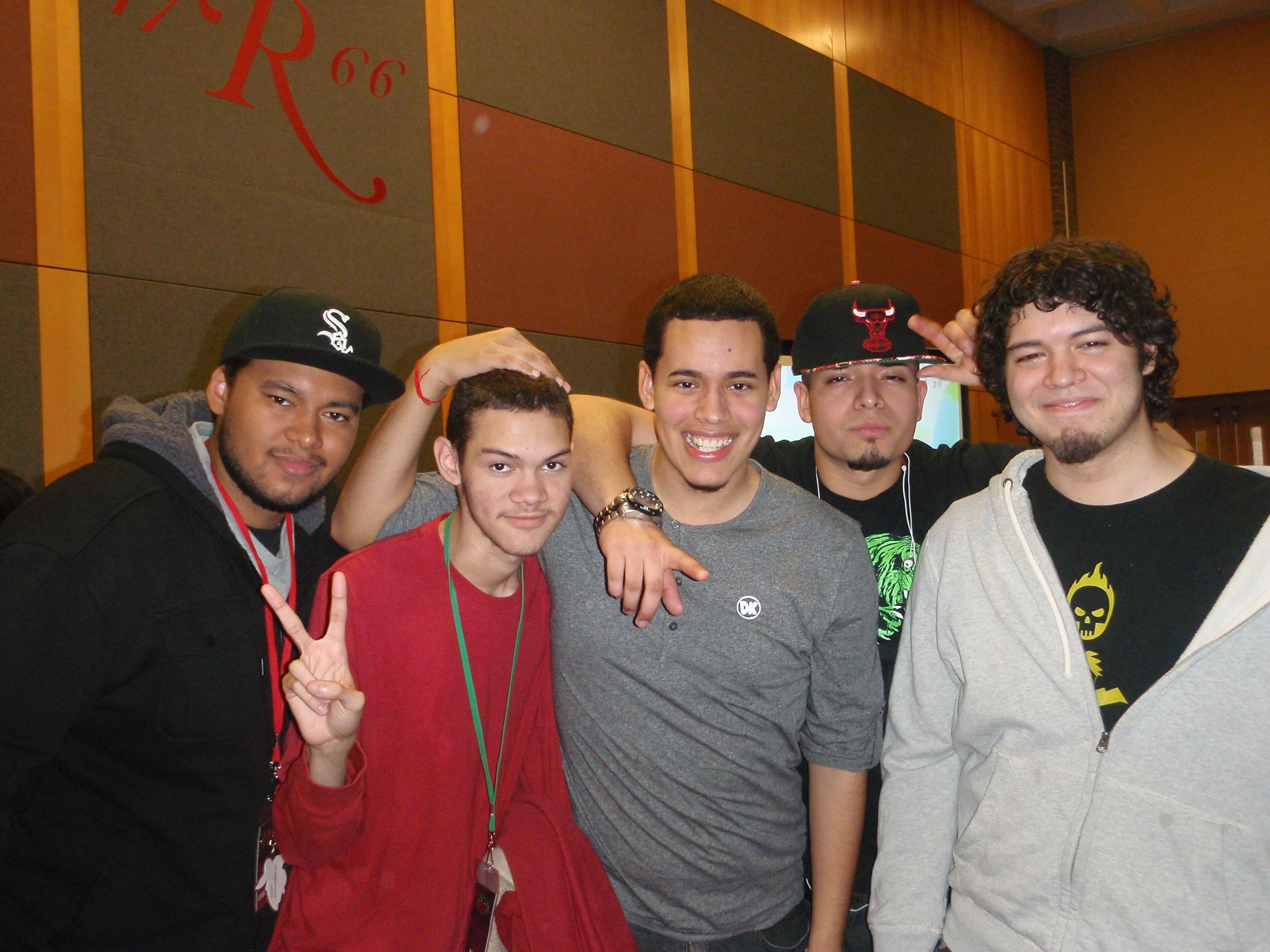 """Pictured left to right: Gunblade, Nairo, Cable, JG, Ksizzle. APEX 2013     """"These guys aren't just my crew mates, but they're my best friends and like my brothers."""""""