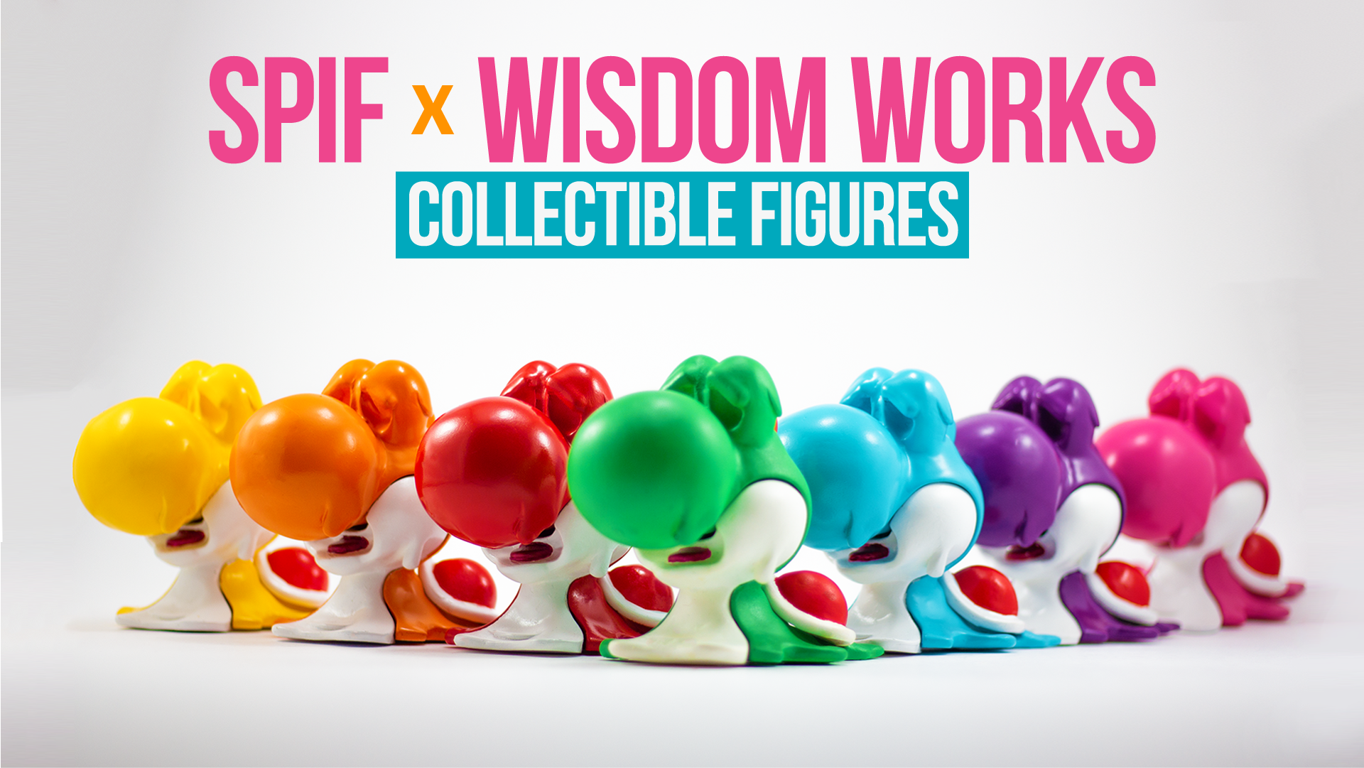 SPIF has been working behind the scenes learning the ins and outs of sculpting, mold-making, and casting. We're excited to announce that we've teamed up with a local brand, Wisdom Works, to bring you unique and exclusive collectible figurines. Each figure is hand-sculpted in house, molded, cast, and hand-painted. We've created a new page on our website to showcase our weird and funky designs, so please check it out! These collectibles are made-to-order (they're quite expensive to produce), so please allow 4-6 weeks to ship (though it'll probably arrive faster!) Check out some more images below.