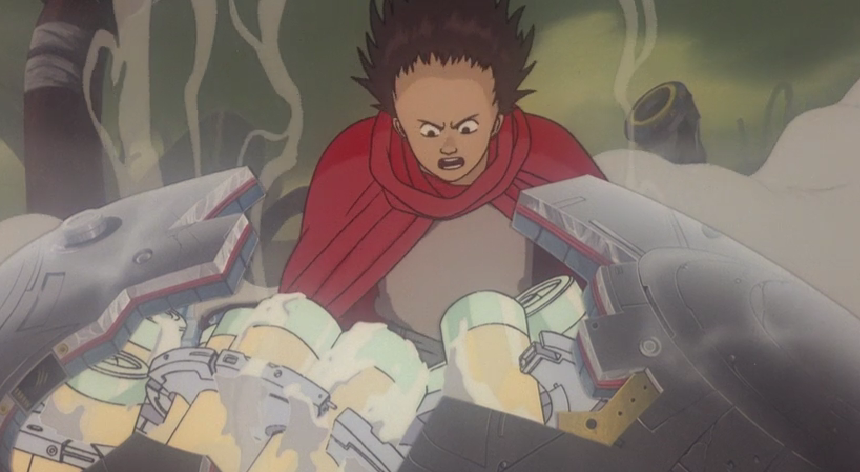 Tetsuo discovers the remnants of Akira, whose parts have been preserved with future hopes of replicating his power
