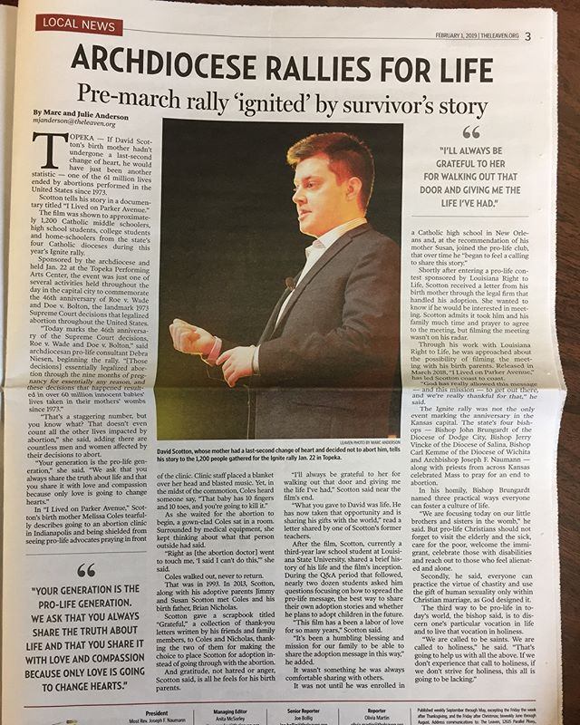 Great article from our last Kansas event! We'll be in Fallbrook, California Saturday, February 16th for a free public event. We hope to see you there! #ilivedonparkeravenue #adoption