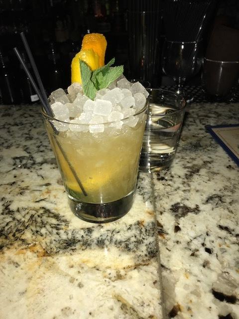 Amazing Whiskey Smash from Maude's Liquor Bar