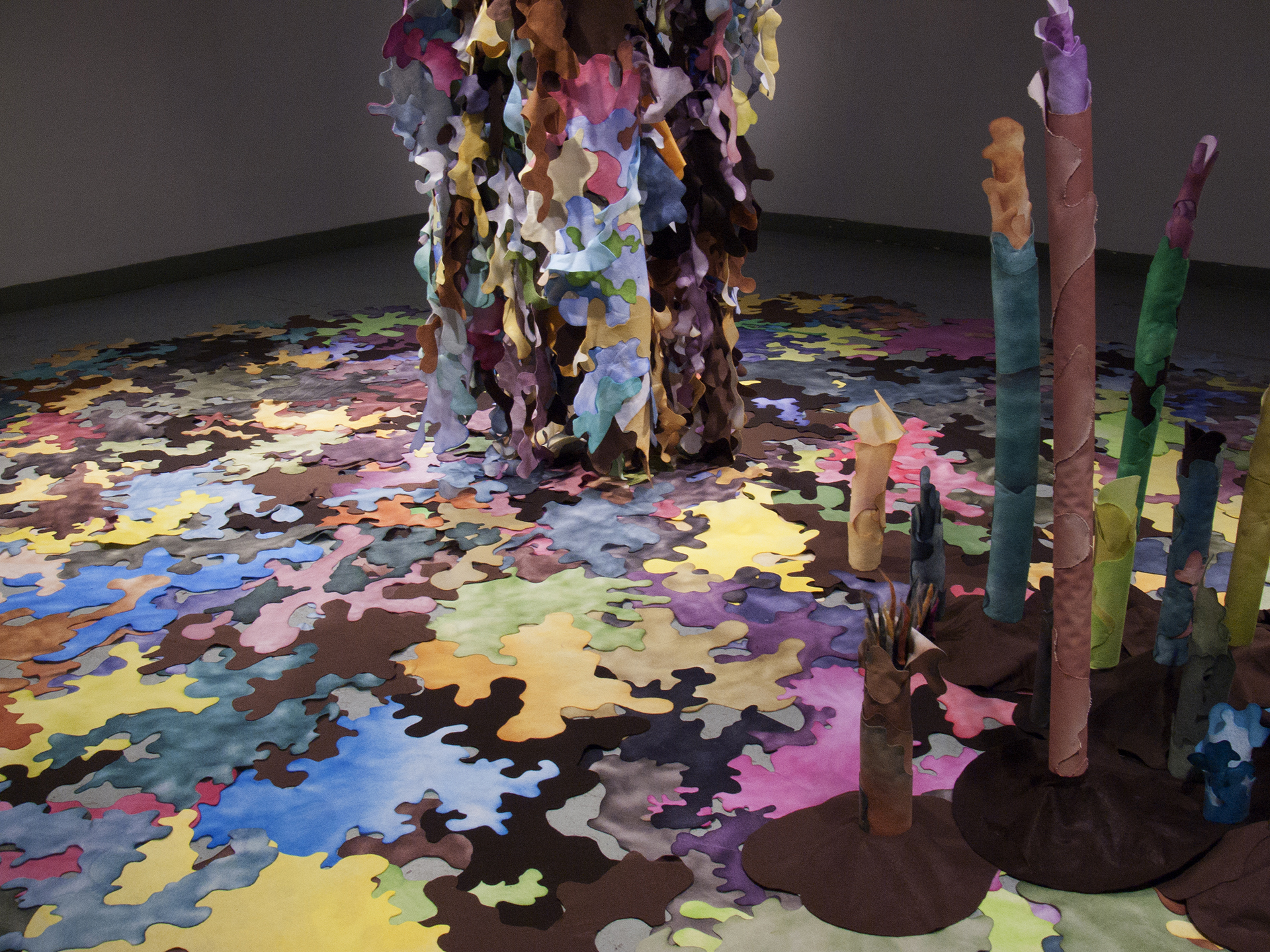 Entity,  2014, mixed media, 18' x 24' x 29'. Site-specific installation at 621 Gallery, Tallahassee, FL