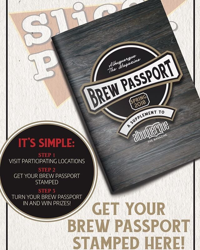 We've got Brew Passports! Ask our servers for your stamp from us, and you could win some awesome prizes!
