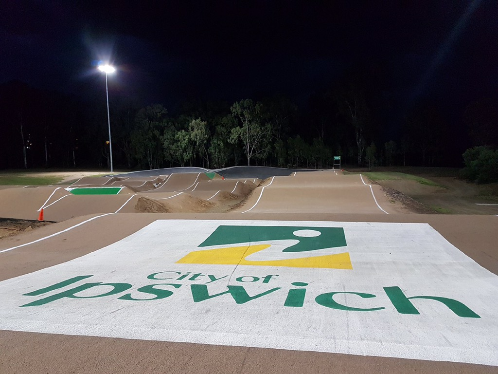 The Ipswich City Council are investing in their new Sic Surface track by branding it with this freshly painted logo!