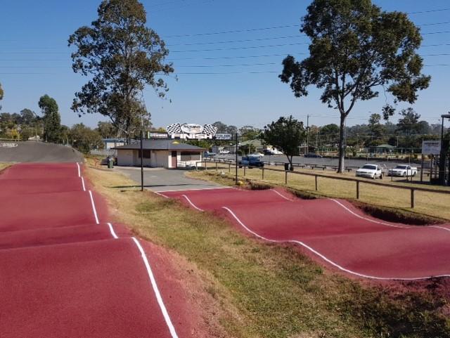 Sic Surface colour coating on the Nerang BMX Club track Australia