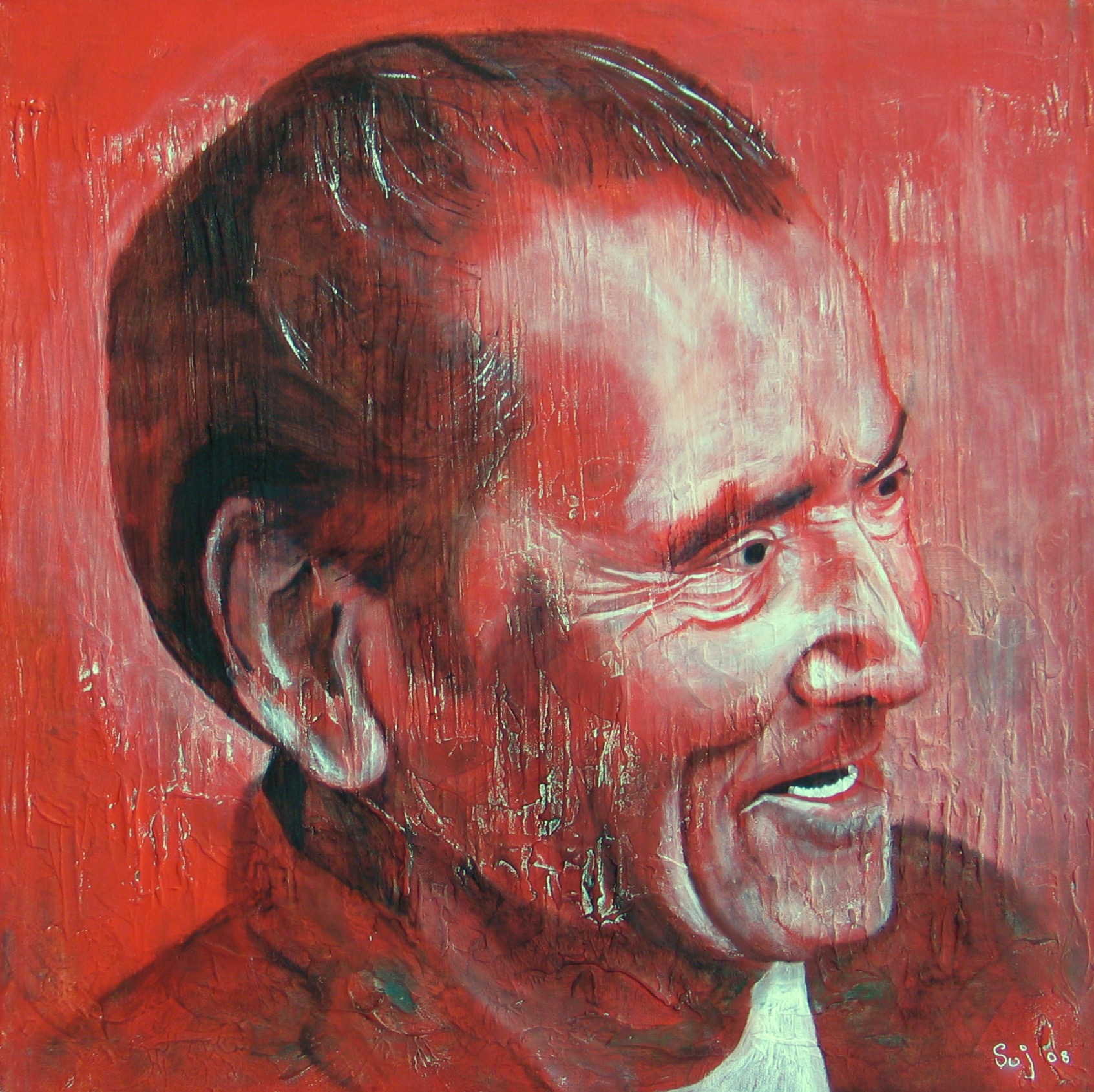 Bert : 51 X 51 cm oil on canvas