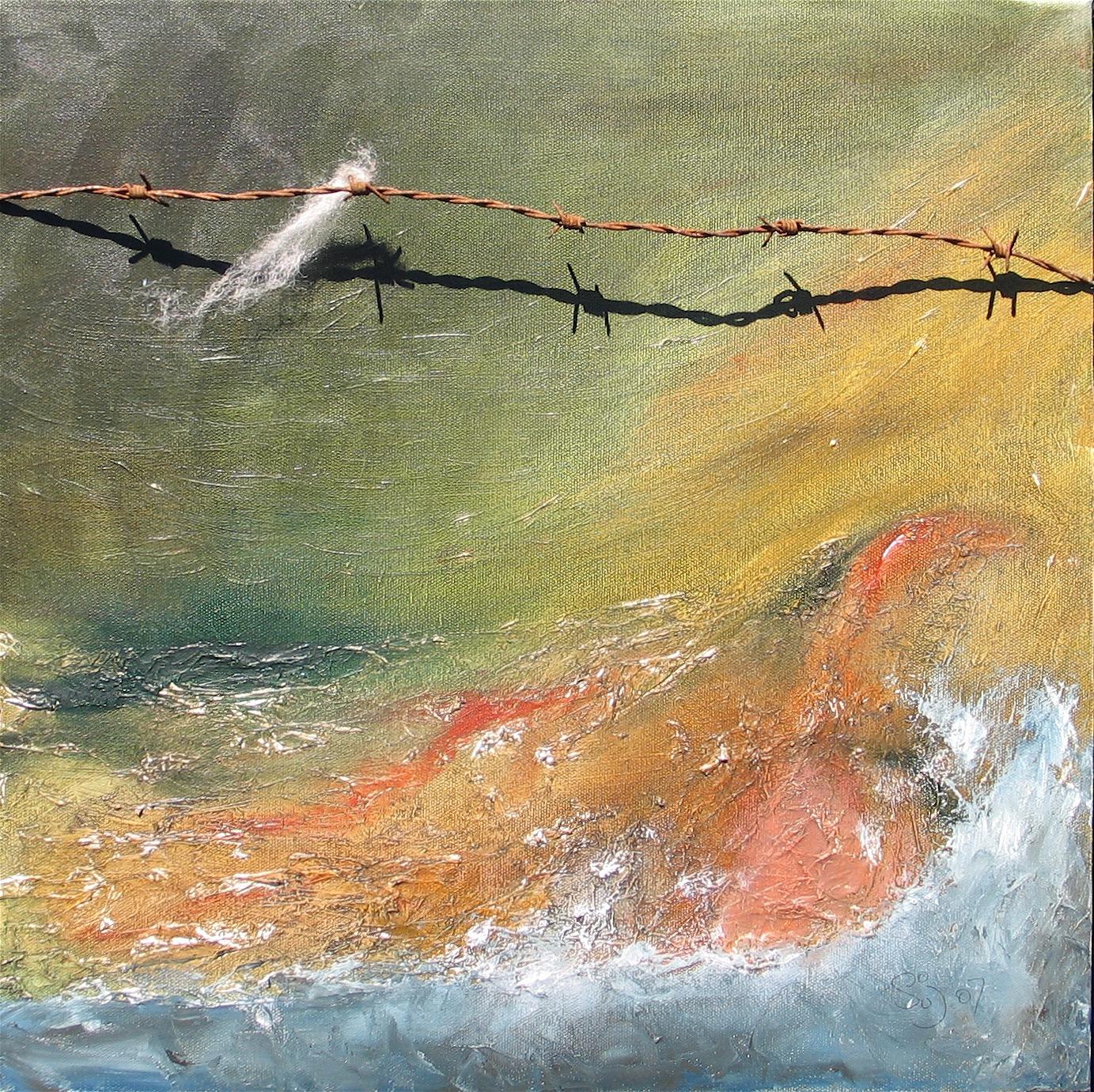 Lundy . Fastnet . Irish Sea : 45 X 45 cm oil on canvas